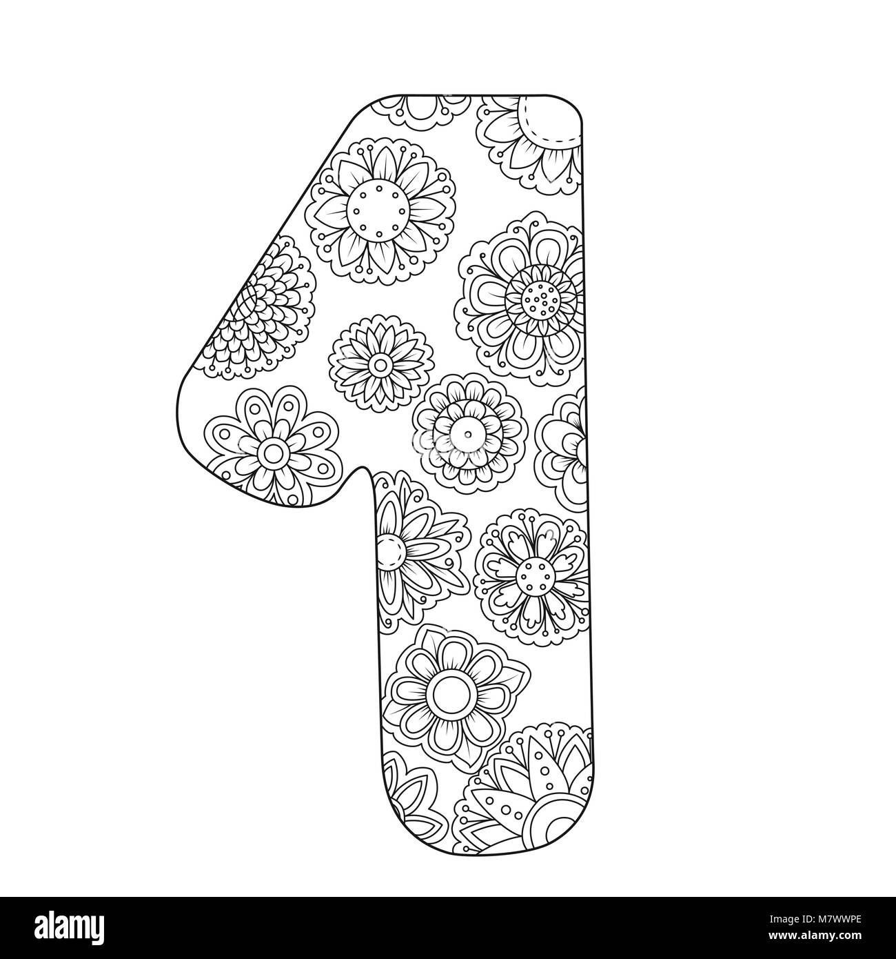 Zen Coloring Book For Adults Number One Figure 1 Tangle Pattern