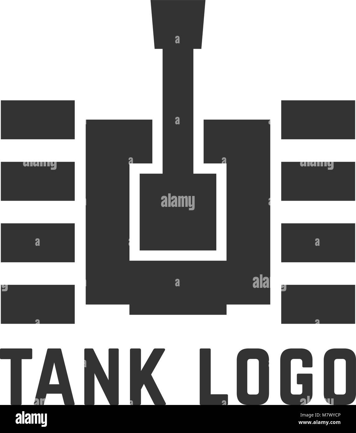 black simple tank logo - Stock Vector