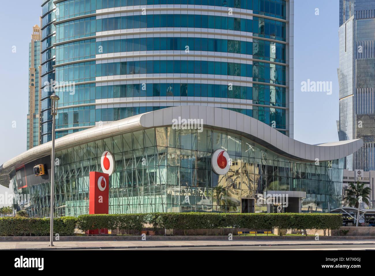 Vodafone Headquarters In Doha Qatar   Stock Image