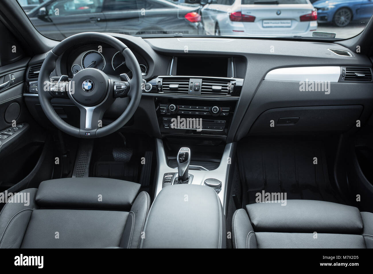 Photography Of Interior In New Model Bmw X1 Xdrive Standing At The Stock Photo Alamy