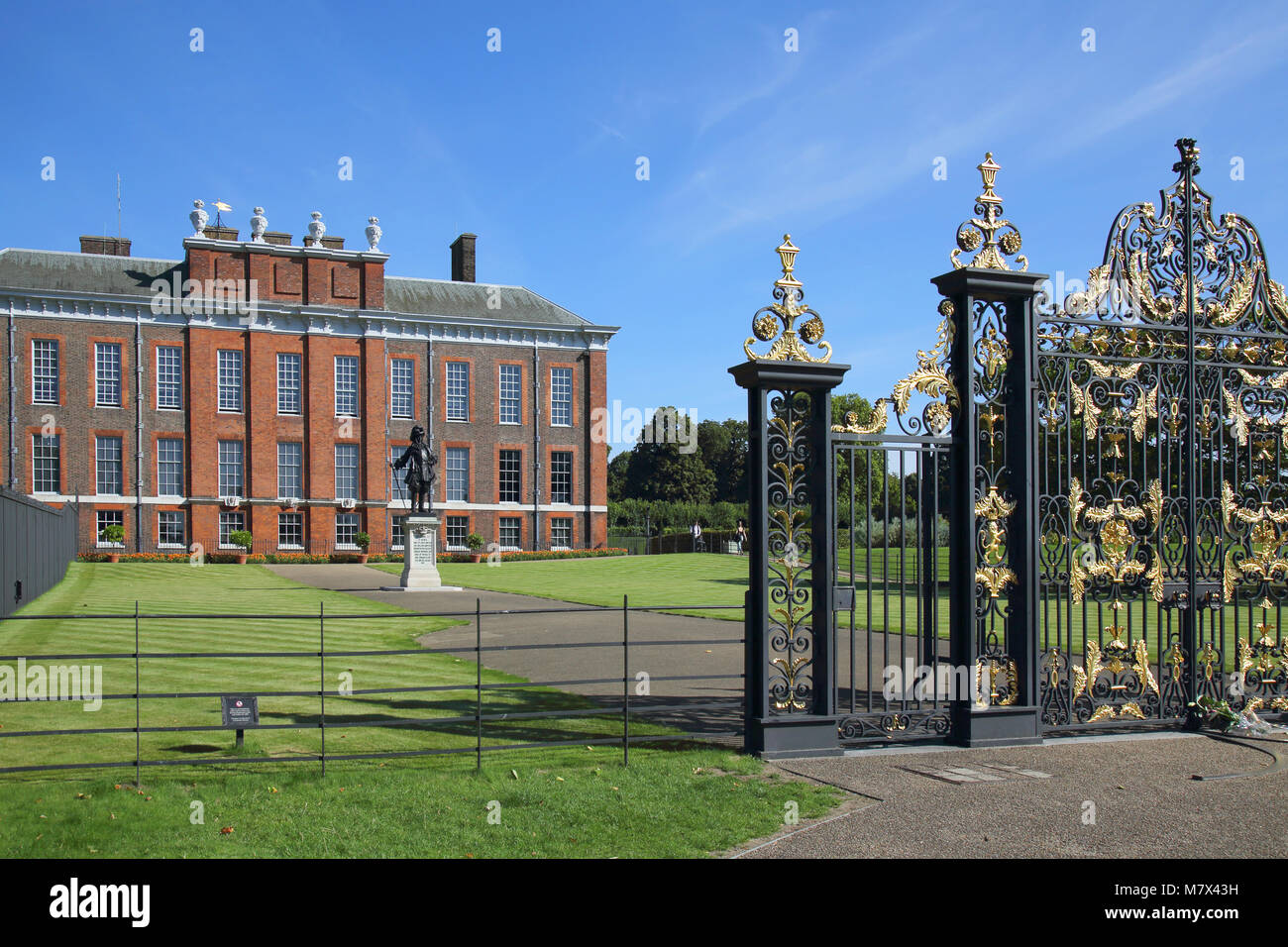 kensington palace gates in hyde park london - Stock Image