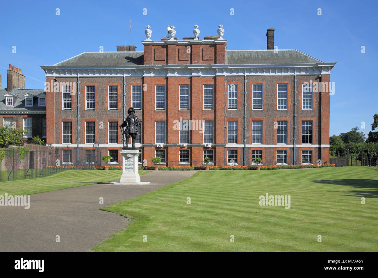 kensington palace in hyde park london - Stock Image