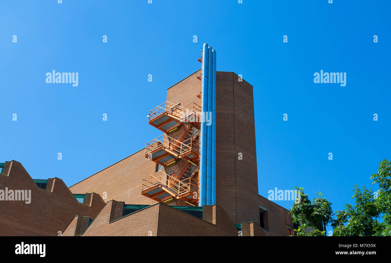 Modern building in the Lanza area, In the center of Milan, Italy. - Stock Image