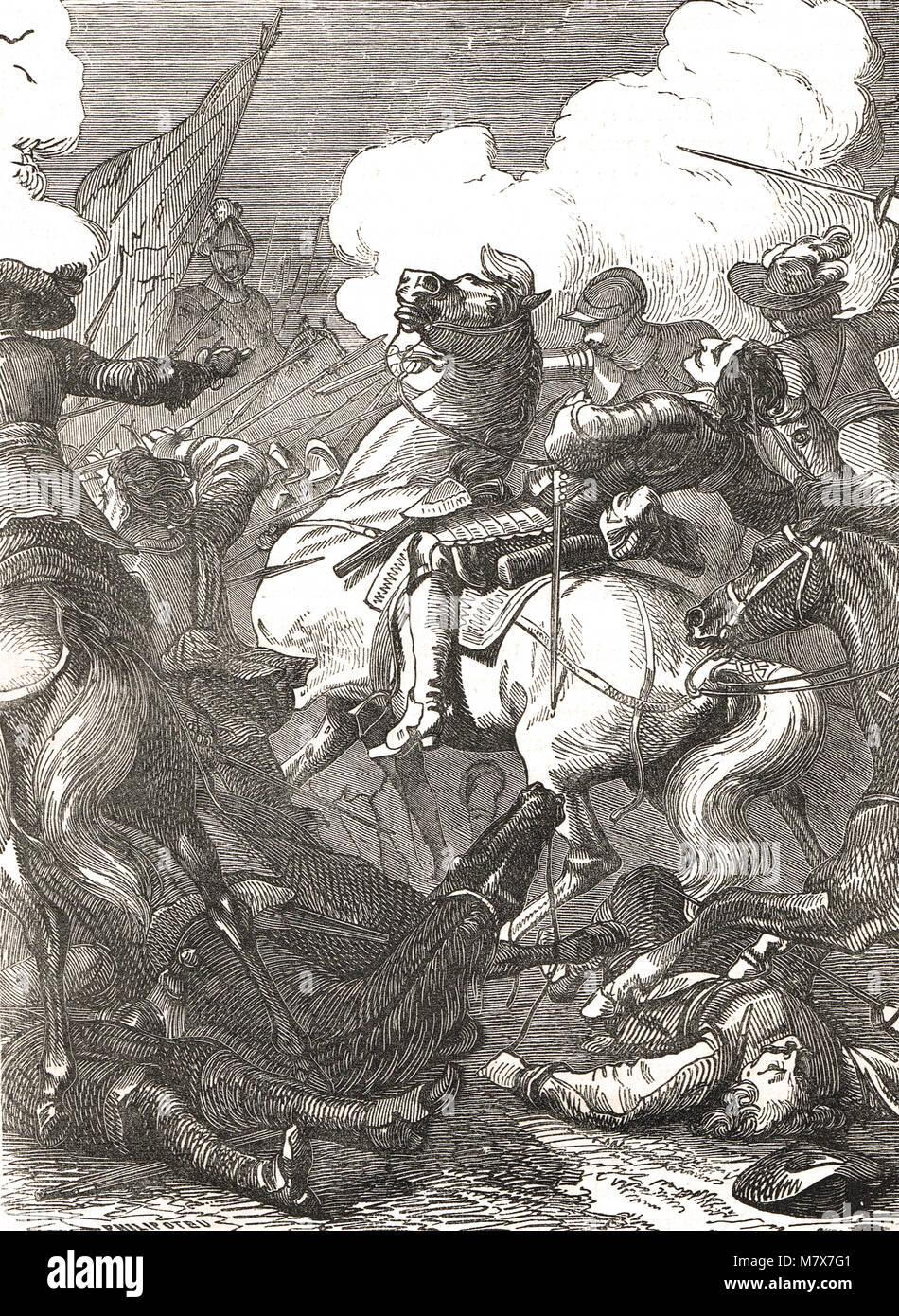 The Battle of Lützen, 16 November 1632 - Stock Image