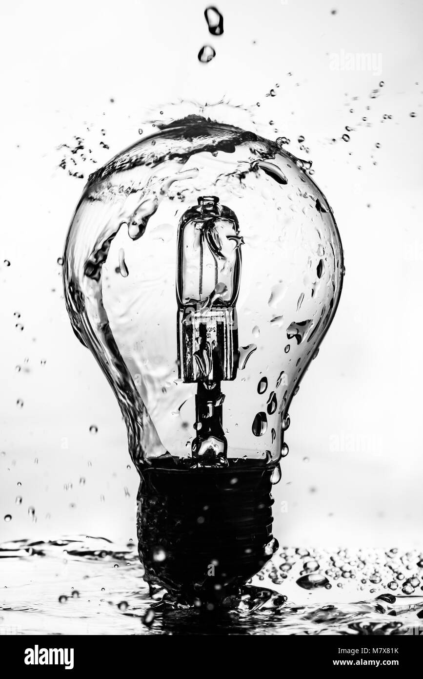 Light Bulb Splash - Stock Image