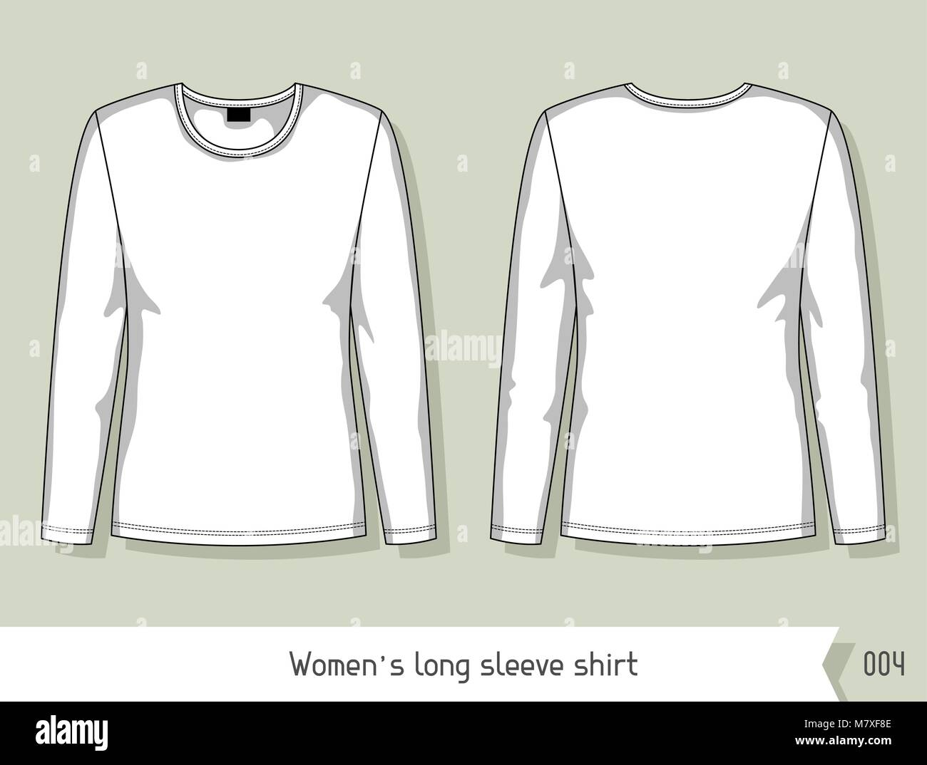 Women Long Sleeve Shirt Template For Design Easily Editable By - Design a shirt template