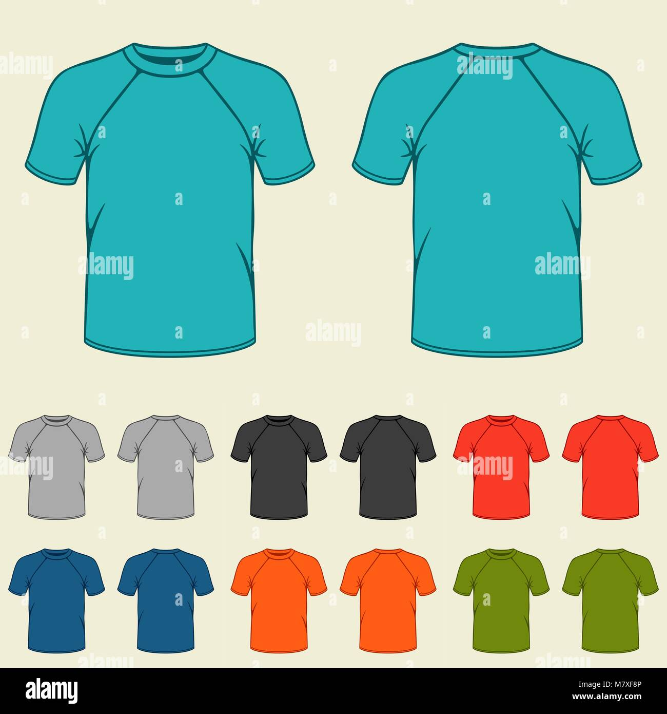 Blank T Shirts Template Front Back Stock Photos & Blank T Shirts ...