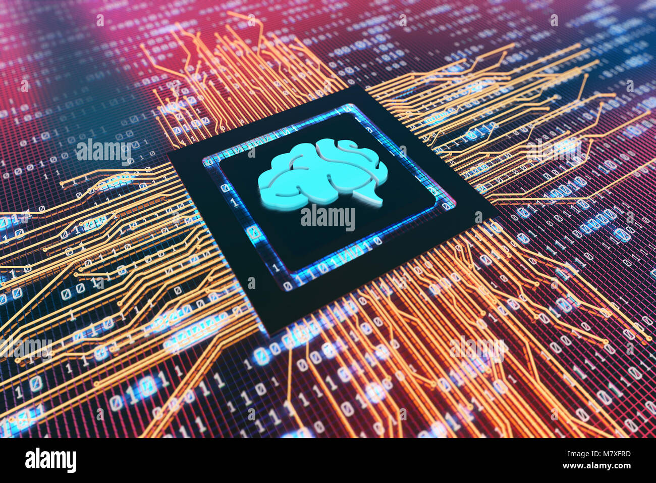 Electronic Technology, Circuit Boards and CPUs, Network Transfer Data, Technology Finance - Stock Image