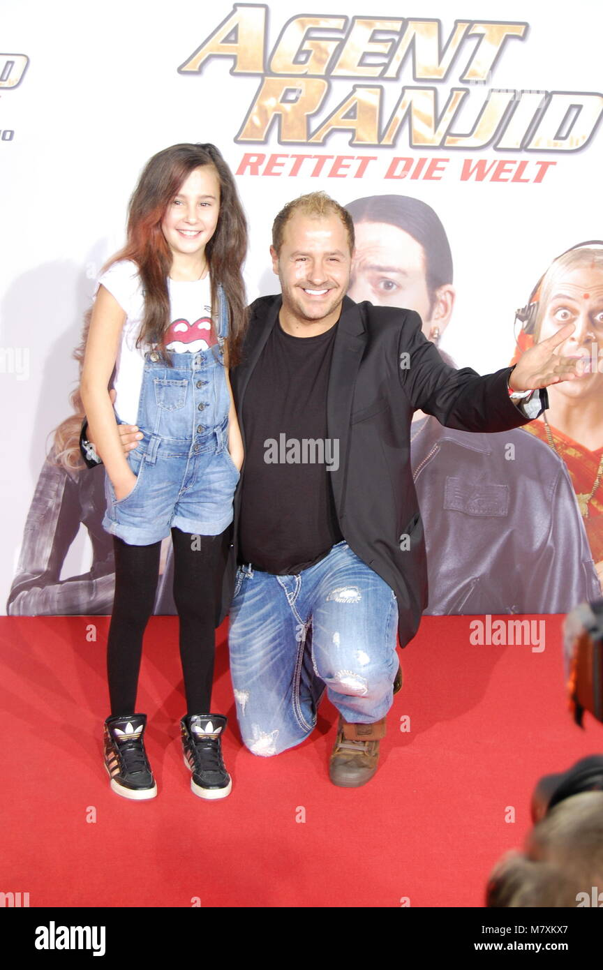 Willi Herren and his daughter Alessia Herren attend the 'Agent Ranjid' Germany Premiere on October 17, 2012 - Stock Image