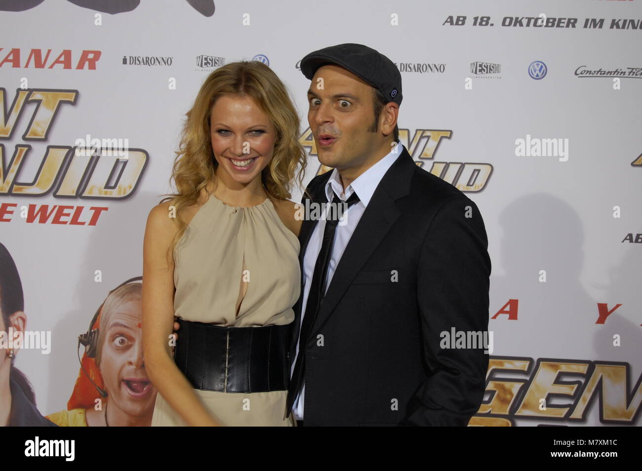 Birte Glang and Kaya Yanar attend the 'Agent Ranjid' Germany Premiere on October 17, 2012 in Cologne, Germany. Stock Photo