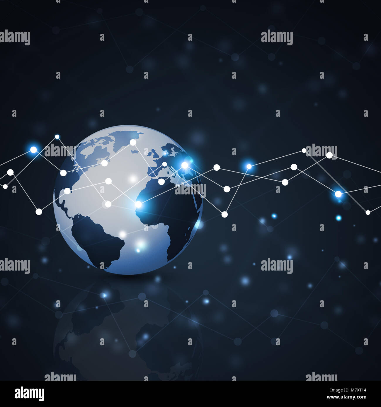 network concept global web connections technology background - Stock Image