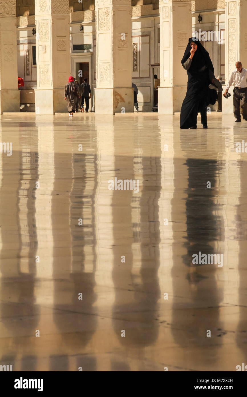 The Umayyad Mosque, also known as the Great Mosque of Damascus is one of the largest and oldest mosques in the world. - Stock Image