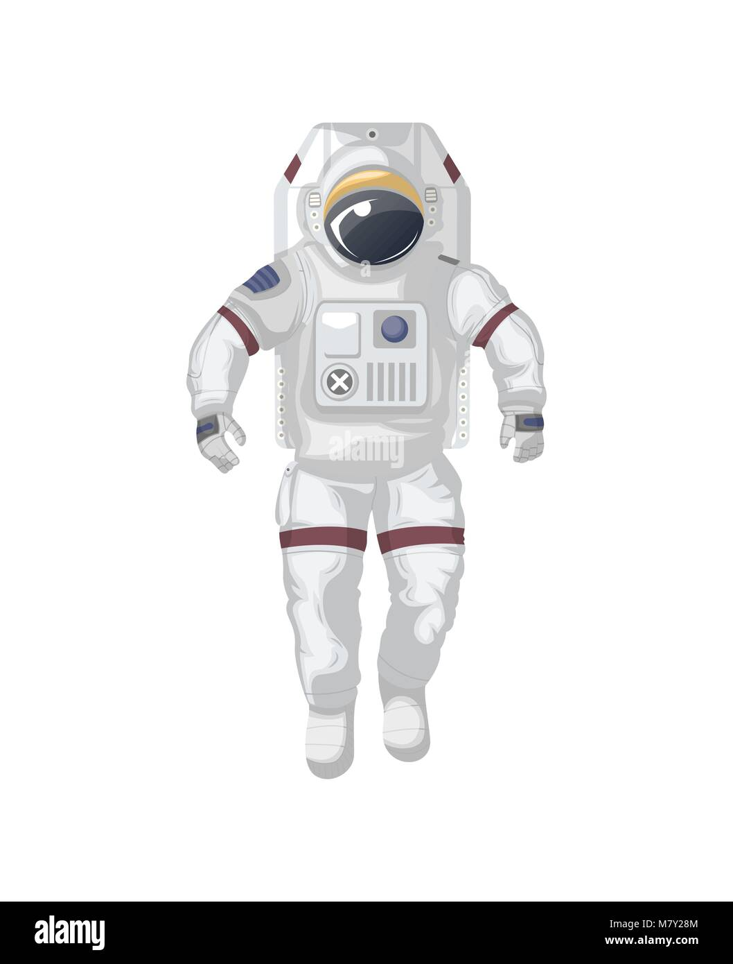 Modern space suit isolated vector icon - Stock Image