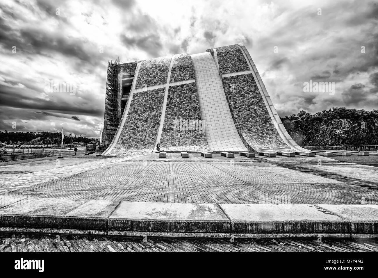 Contemporary architecture,Museum,City of Culture of Galicia, Cidade da cultura de Galicia, by Peter Eisenman, Santiago - Stock Image