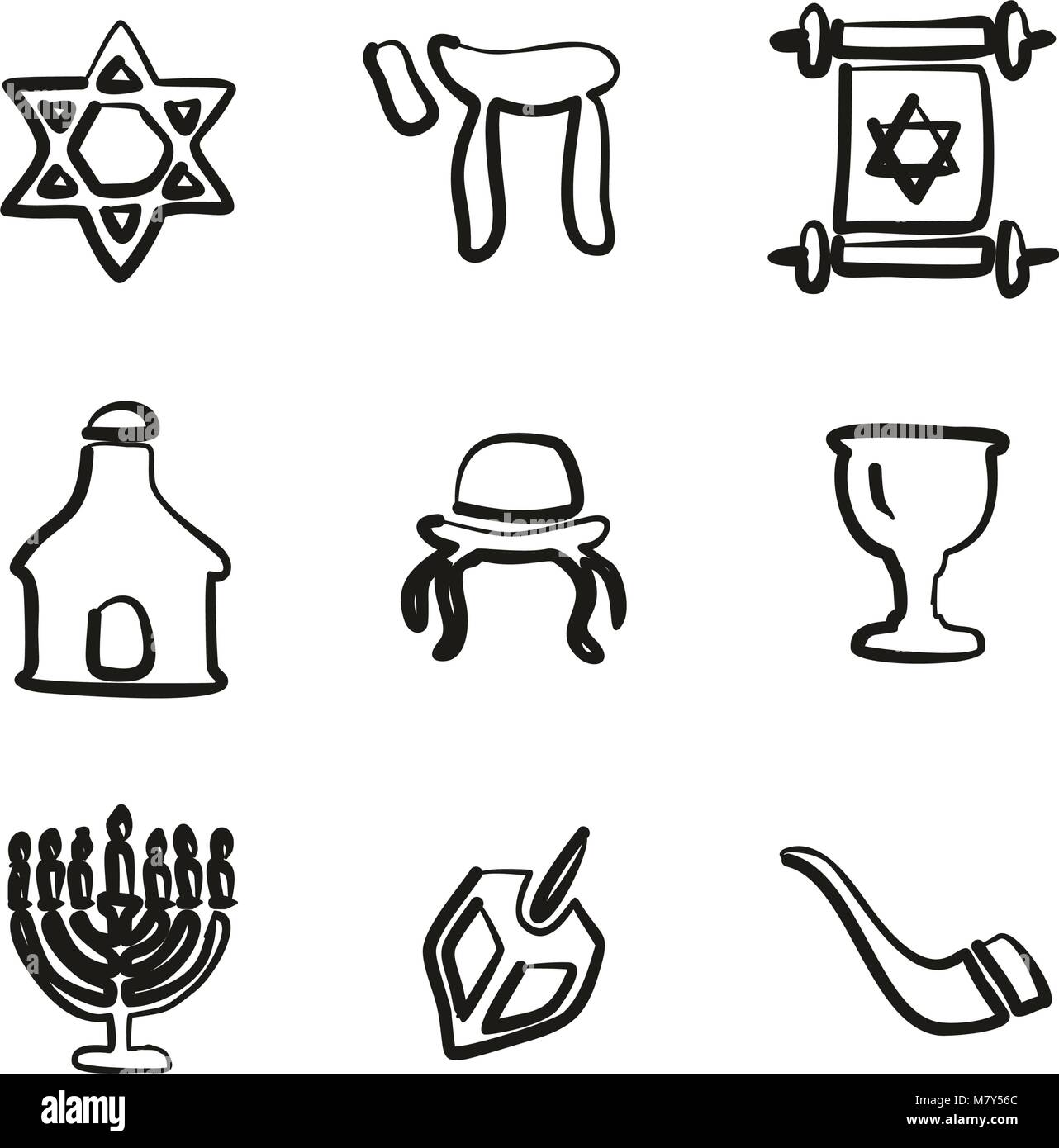 Journalist Or Reporter Icons Freehand - Stock Vector