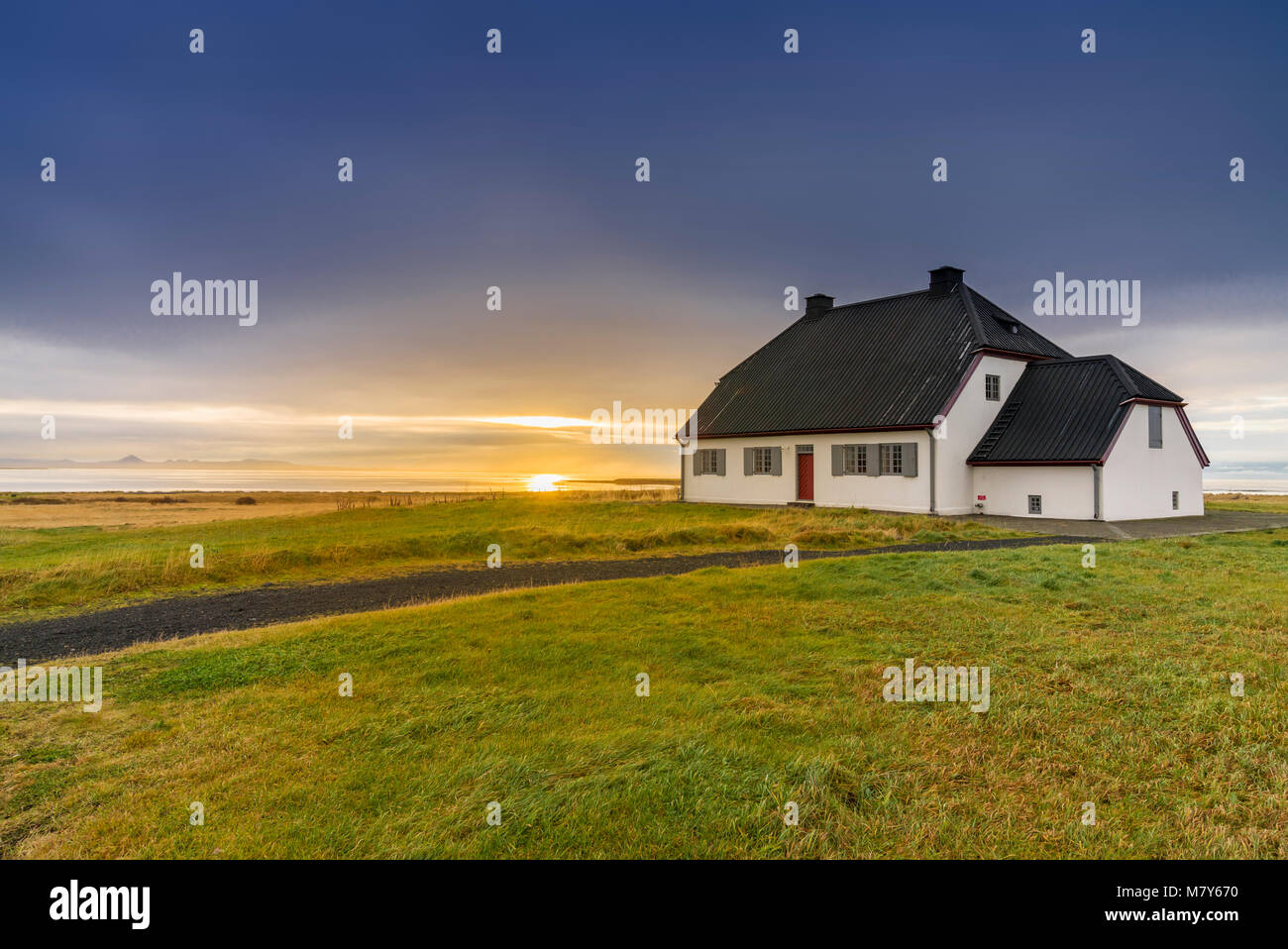 Nesstofa built 1761-1763 was the permanent residence of the Medical Director of Health and is one of Iceland's - Stock Image
