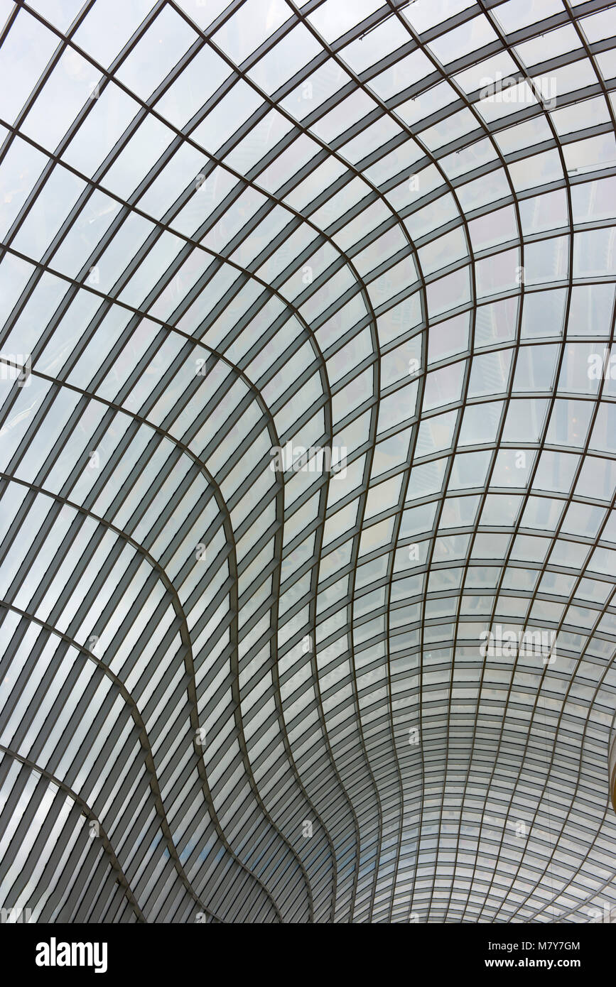 The glass-paneled roof of the Chadstone Shopping Centre. Stock Photo