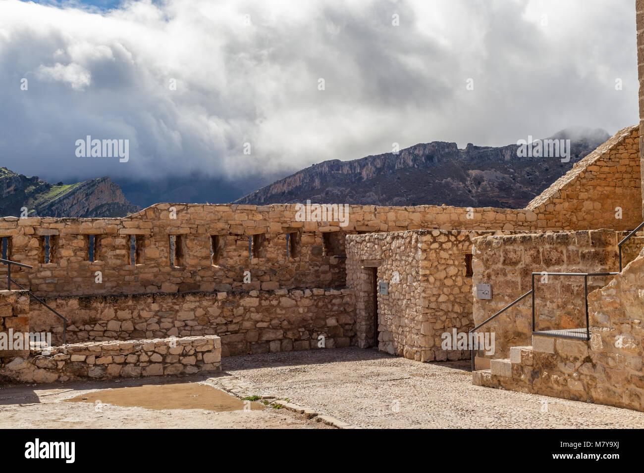 castillo de santa catalina castle in jaen spain - Stock Image