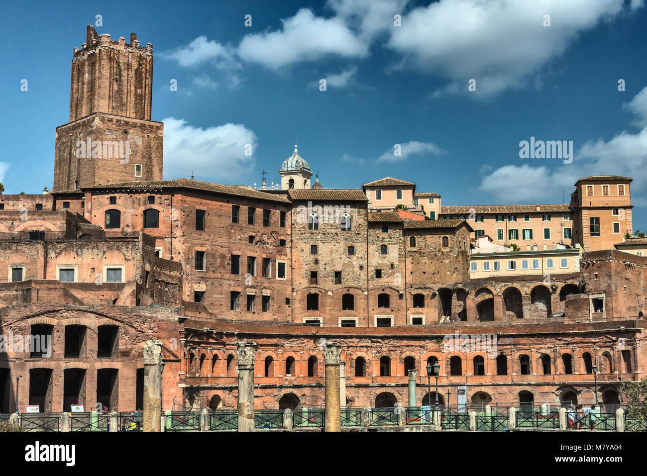 Das Trajansforum (Forum Traiani) in Rom - Stock Image