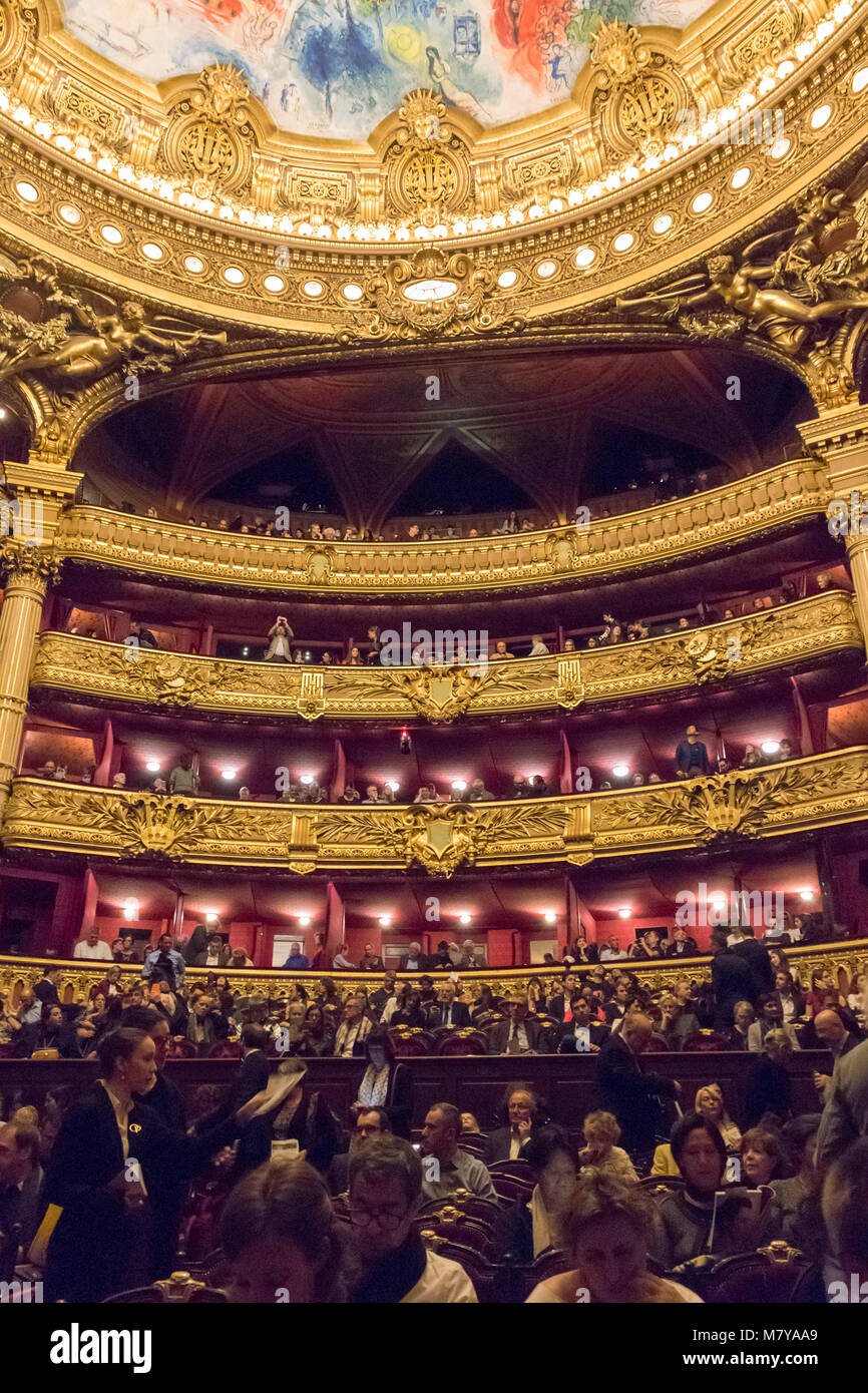 auditorium, Garner Opera House, Paris, France - Stock Image
