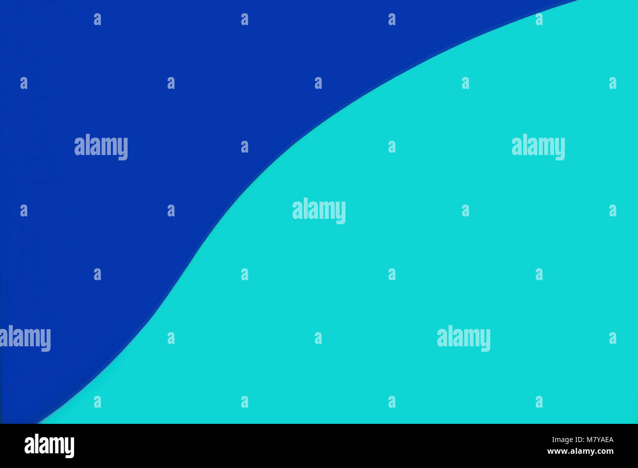 Two shades of blue in this minimalist bold background. - Stock Image