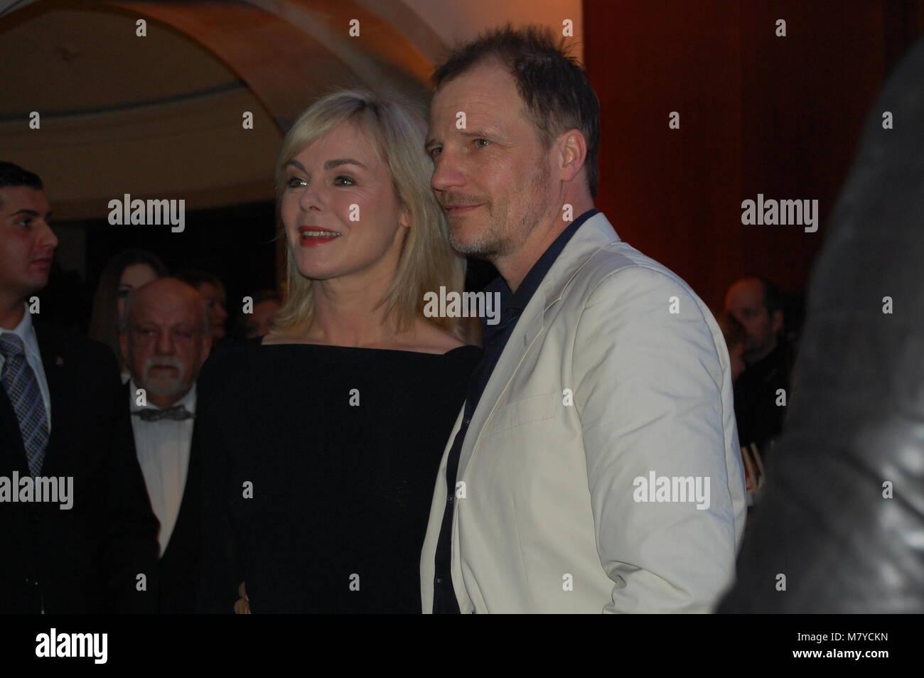 Saskia Valencia & Thorsten Nindel - Los Banditos-Party im Hotel ADLON Kempinski - 10.02.2013 Berlinale 2013 - Stock Image