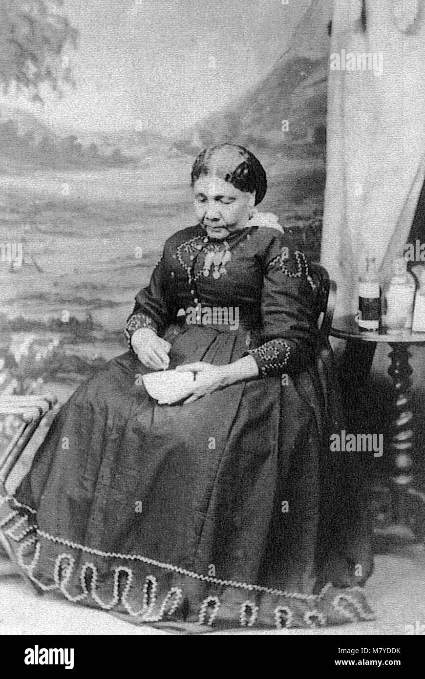 Mary Seacole (1805-1881), the only known portrait of the British-Jamaican nurse, c.1873 - Stock Image