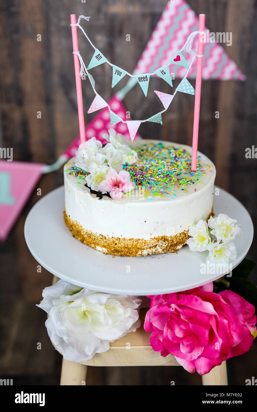 cake smash - Stock Image