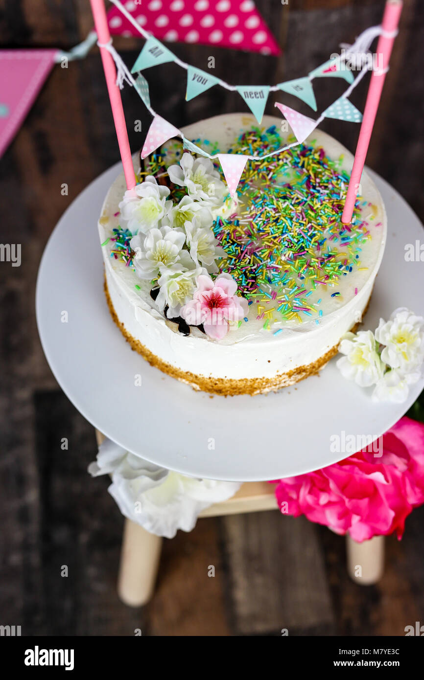 cake smash - Stock Image