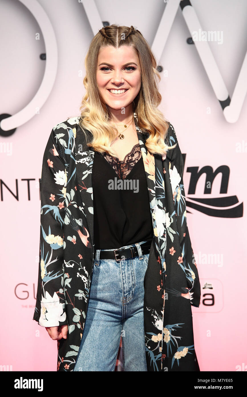 Dortmund, Germany, 10.3.18, Kleinstadtcoco attend GLOW – The Beauty-Convention by dm, Westfalenhalle Credit: Holger - Stock Image