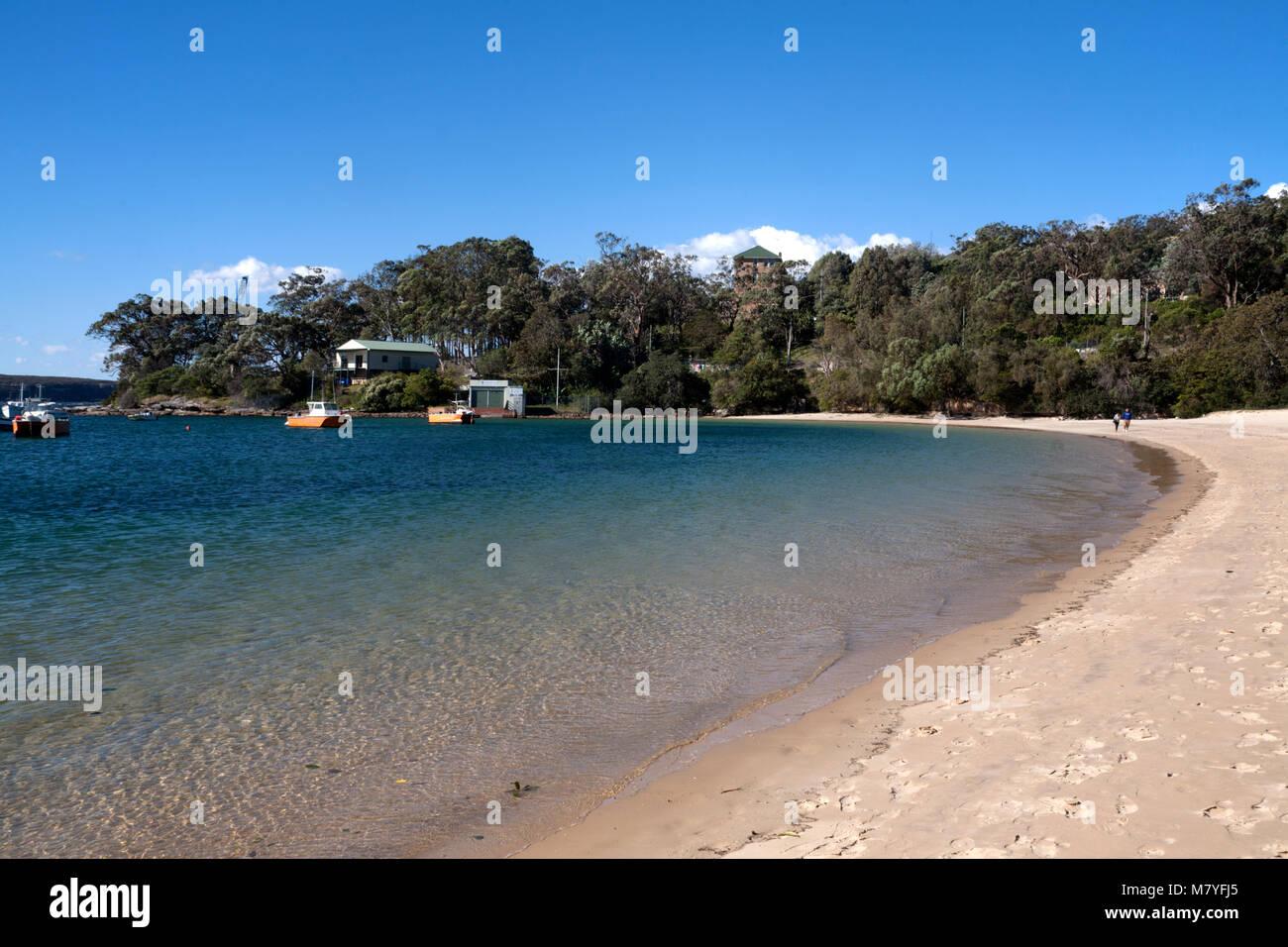 balmoral beach headland park mosman sydney new south wales australia - Stock Image
