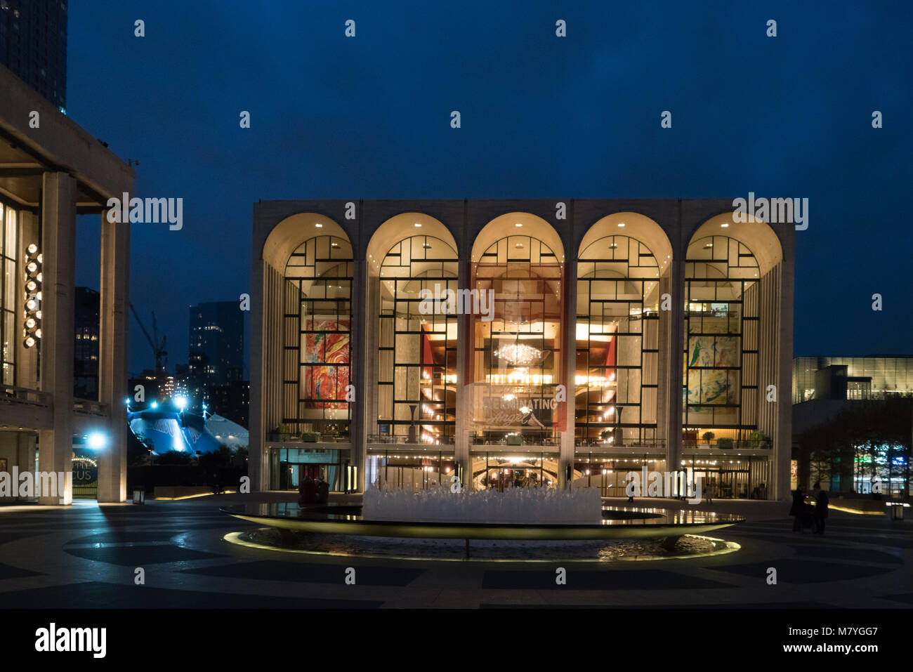 metropolitan opera new york lights stock photos metropolitan opera