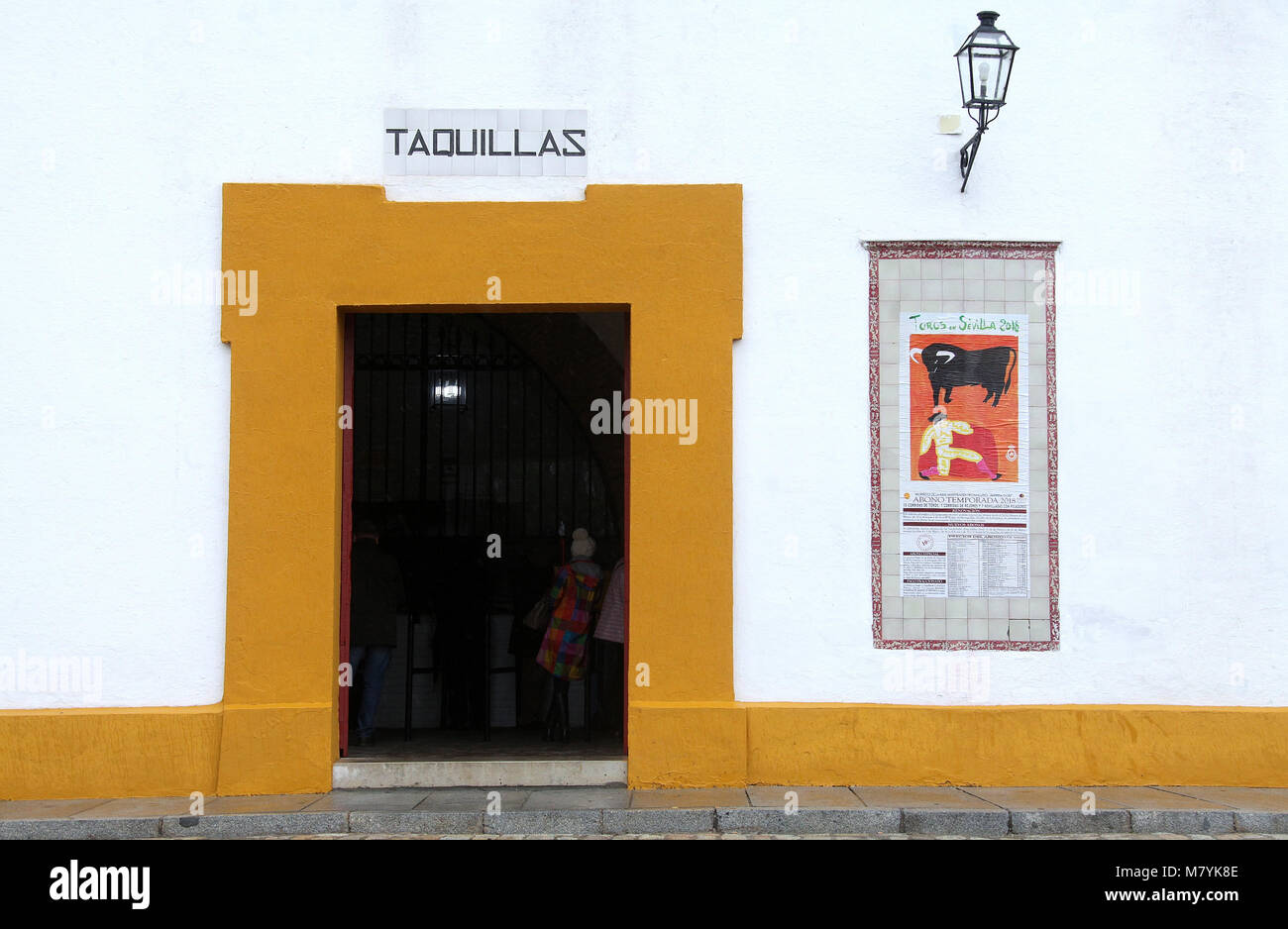 Ticket office at Seville Bullring - Stock Image