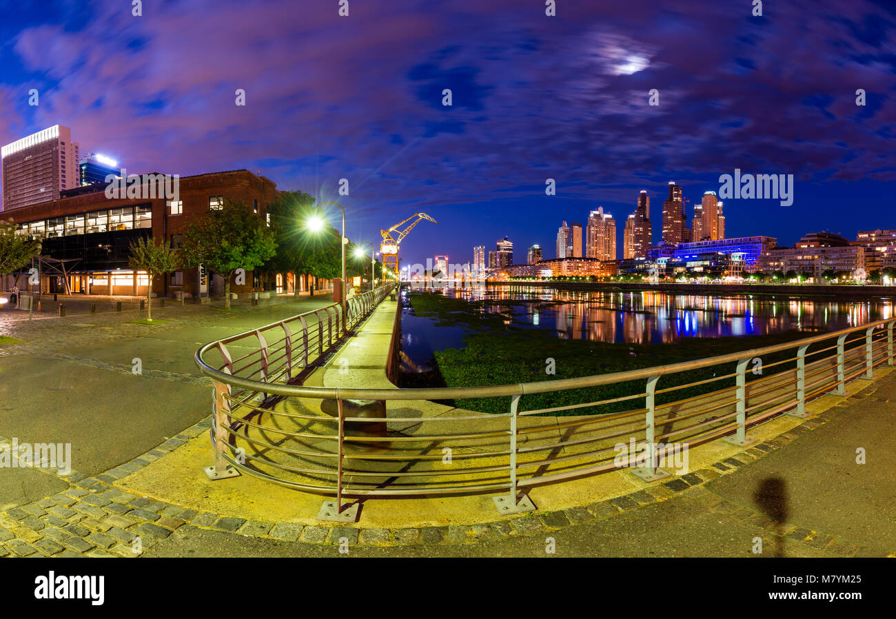 Puerto Madero, also known within the urban planning community as the Puerto Madero Waterfront, is a barrio (district) Stock Photo