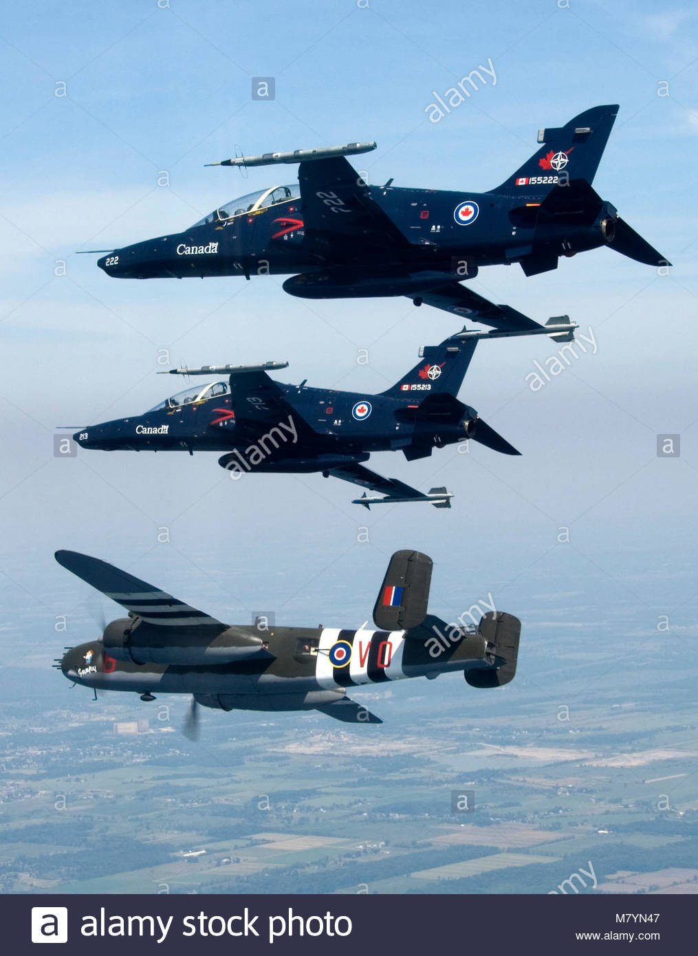 Hawk's with B-25 Mitchell  CT-155 Hawk aircraft, from 419
