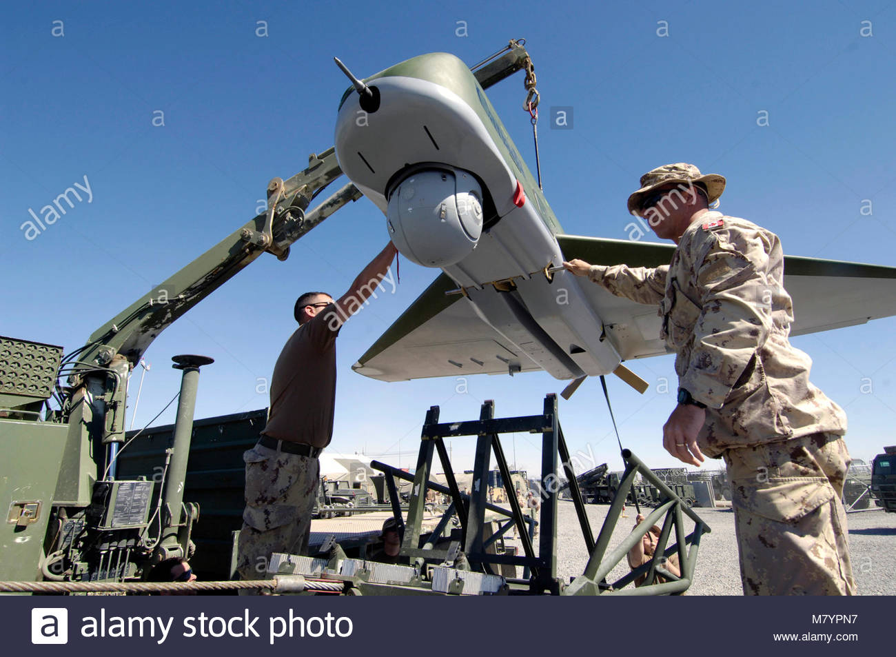 OPERATION  ARCHER, Afghanistan. Master Bombardier Jean-Francois Latulippe (right) and Bombardier Nicolas Blanchet - Stock Image