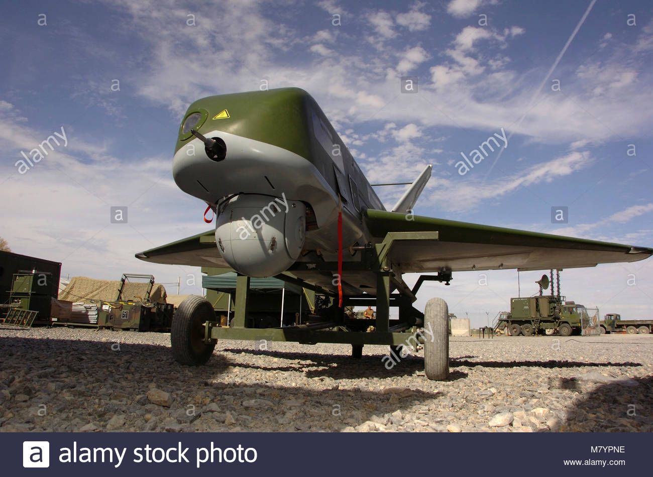 OPERATION  ARCHER. The CU-161 Sperwer remotely piloted aircraft began keeping watch over South Afghanistan March - Stock Image