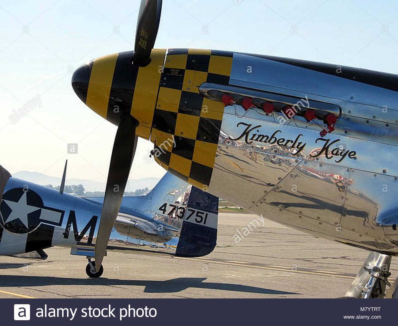 . North American  P-51D Mustang 'Kimberly Kaye' Stock Photo