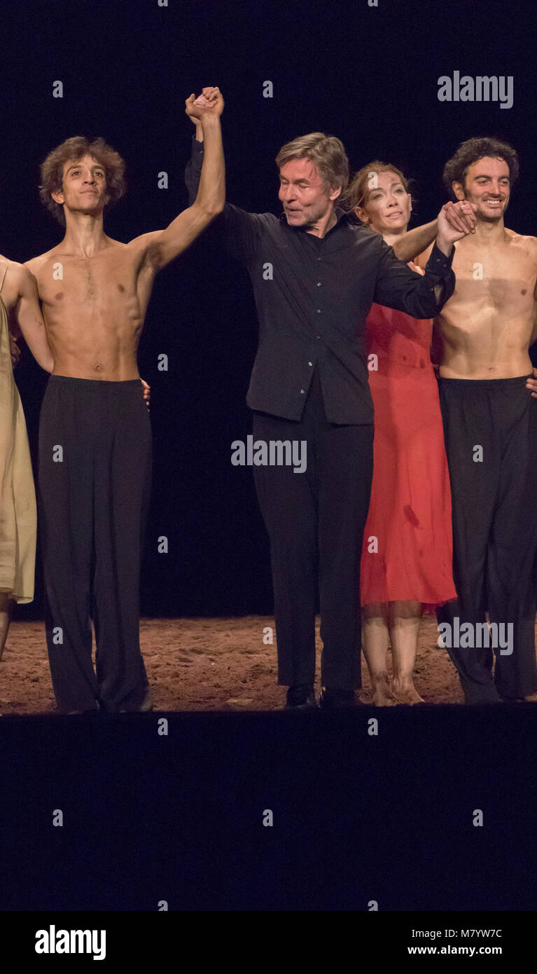 curtain call for ballet performance of Stravinsky's  The Rite of Spring (Le Sacre du printemps) at Palais Garnier - Stock Image