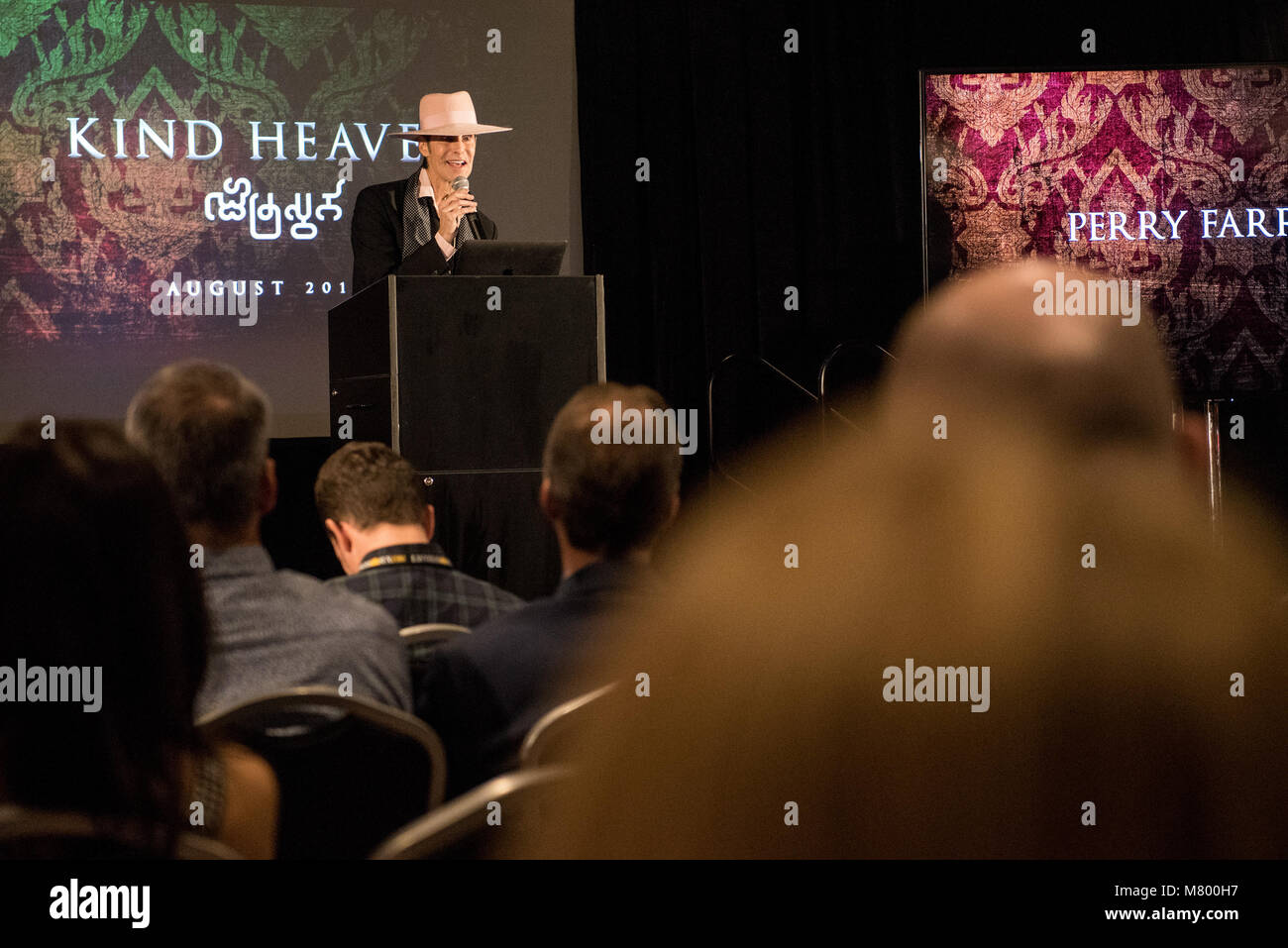 Las Vegas, NV, USA. 13th Mar, 2018. ***HOUSE COVERAGE*** Perry Farrell pictured Lollapalooza Creator Perry Farrell, - Stock Image