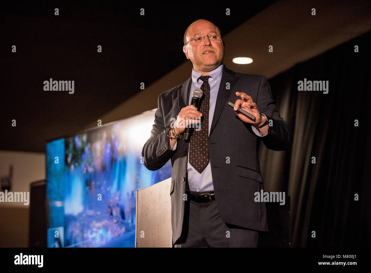 Las Vegas, NV, USA. 13th Mar, 2018. ***HOUSE COVERAGE*** Cary Granat CEO of Immersive Artistry pictured Lollapalooza - Stock Image