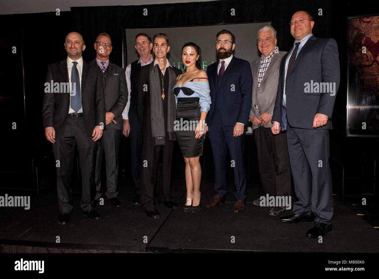 Las Vegas, NV, USA. 13th Mar, 2018. ***HOUSE COVERAGE*** Jason Gatswirth, Sean Swanger, Etty Farrel, Perry Farrell, - Stock Image