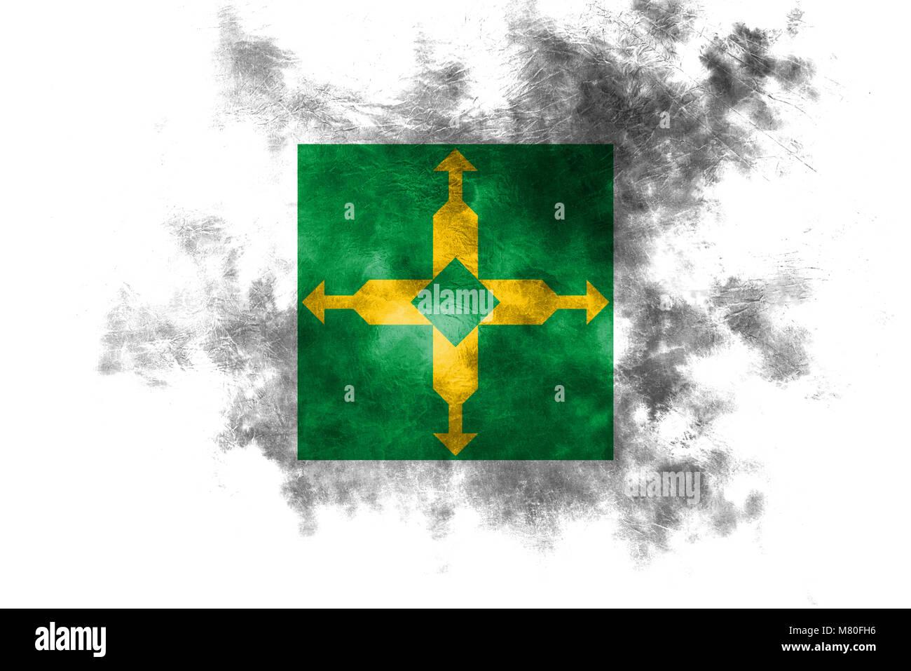 Distrito Federal grunge flag, Ciudad de Mexico - Stock Image
