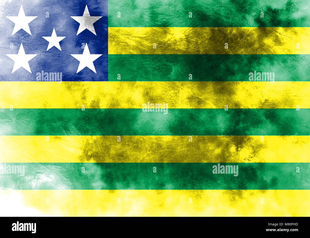 Goias grunge flag, state of Brazil - Stock Image