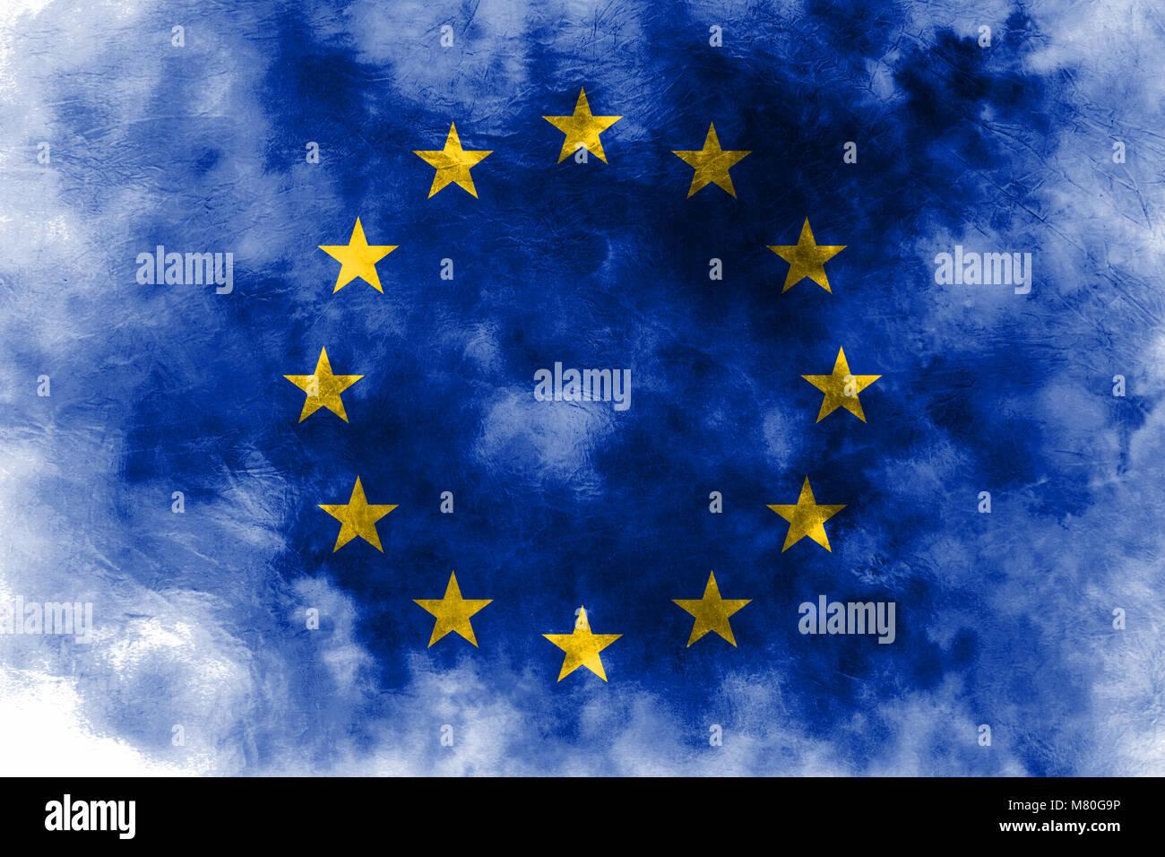 1b51b162896ee Damaged European Union Flag Stock Photos & Damaged European Union ...