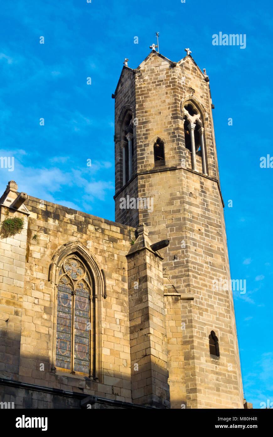 Capella de Santa Agueda, Capella de Santa Agata, Chapel Santa Agada, St Agnes, Placa del Rei, Barri Gotic, Barcelona, - Stock Image