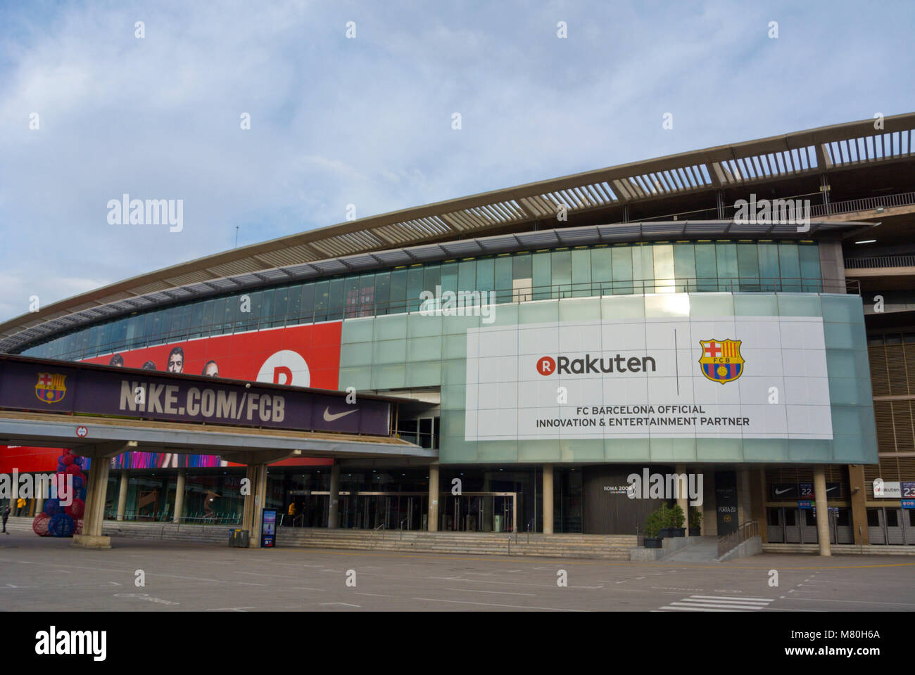 FC Barcelona football stadium, Camp Nou, Barcelona, Catalonia, Spain - Stock Image