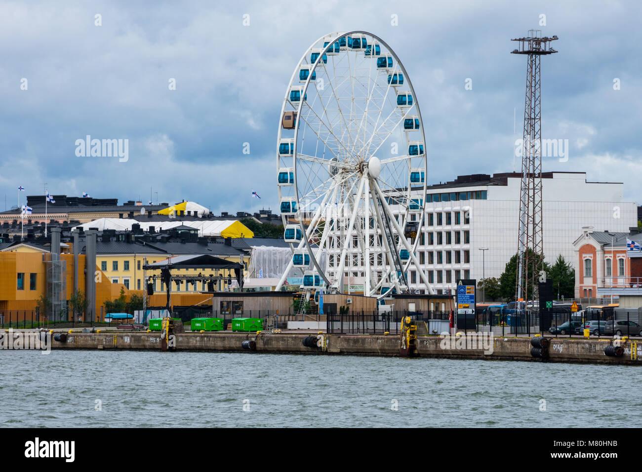 Helsinki, Finland. August 26, 2017. View of Skywheel Helsinki - Stock Image