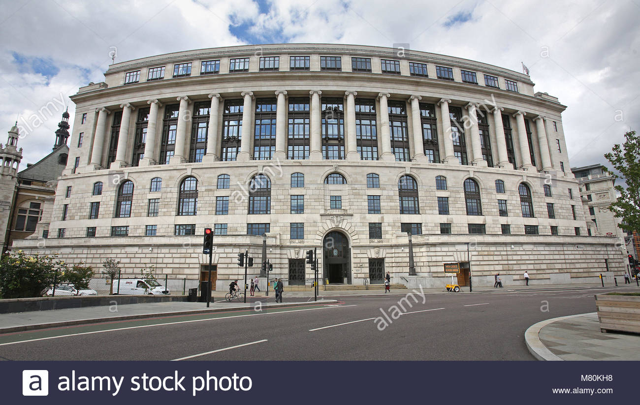 File photo dated 14/03/18 of the Unilever offices on Victoria Embankment in London. The company is reportedly set - Stock Image