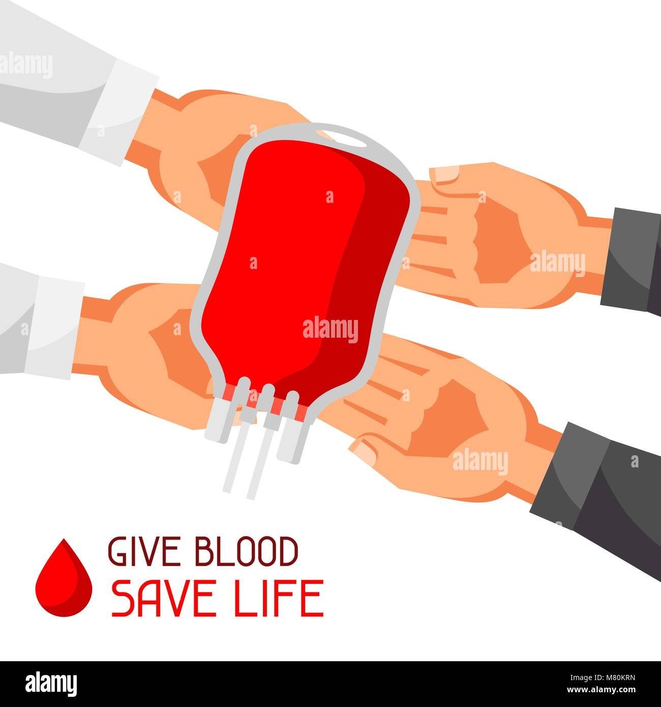 Donate blood save life. Medical and healthcare concept - Stock Image